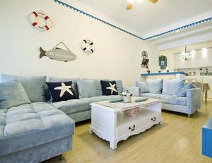 39平米地中海风格客厅装修效果图鉴赏