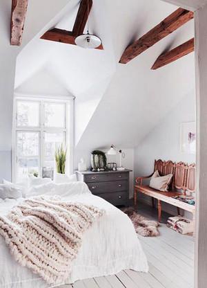 70平米都市简约风格女生卧室床头柜效果图鉴赏