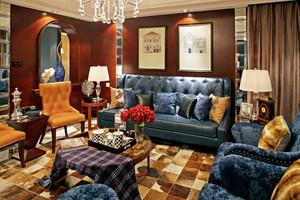 仿古美式风格别墅室内装修效果图赏析