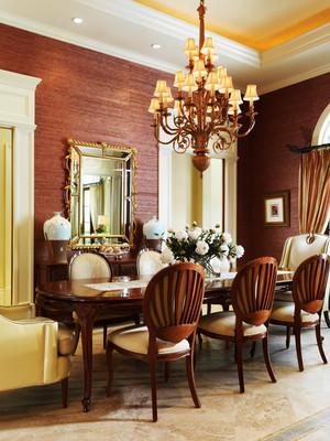 古典欧式风格大户型餐厅吊灯效果图鉴赏