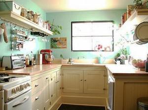 简欧风格一居室厨房装修效果图鉴赏