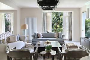 美式混搭风格两居室室内装修效果图鉴赏