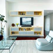 34平米日式风格客厅电视柜效果图赏析