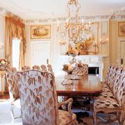 现代法式风格别墅餐厅装修效果图鉴赏