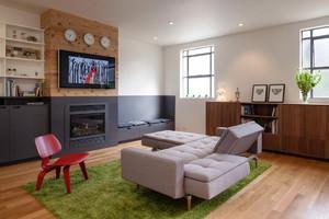 现代简约风格两居室客厅折叠沙发效果图赏析