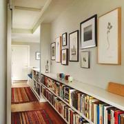 120平米现代简约风格过道书房设计效果图赏析
