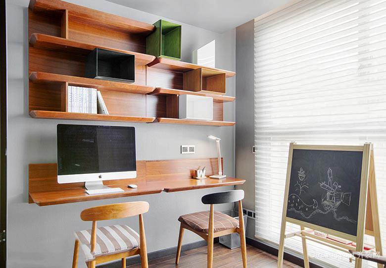 现代简约风格四居室家庭书房装修效果图鉴赏