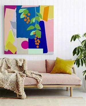 现代简约风格女生公寓客厅粉色沙发效果图鉴赏
