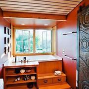 10平米现代简约风格卫生间收纳柜效果图鉴赏