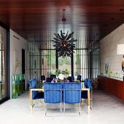 现代loft风格自建别墅餐厅装修效果图鉴赏