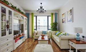 现代田园风格二居室室内装修效果图鉴赏