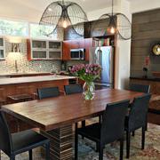美式乡村风格二居室开放式厨房餐厅效果图鉴赏