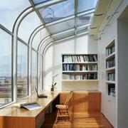 现代简约风格别墅阳台改造书房效果图赏析