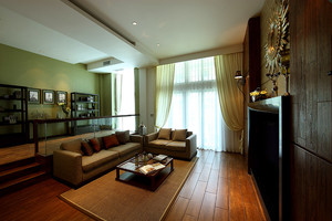 152平米东南亚风格复式楼室内装修效果图赏析