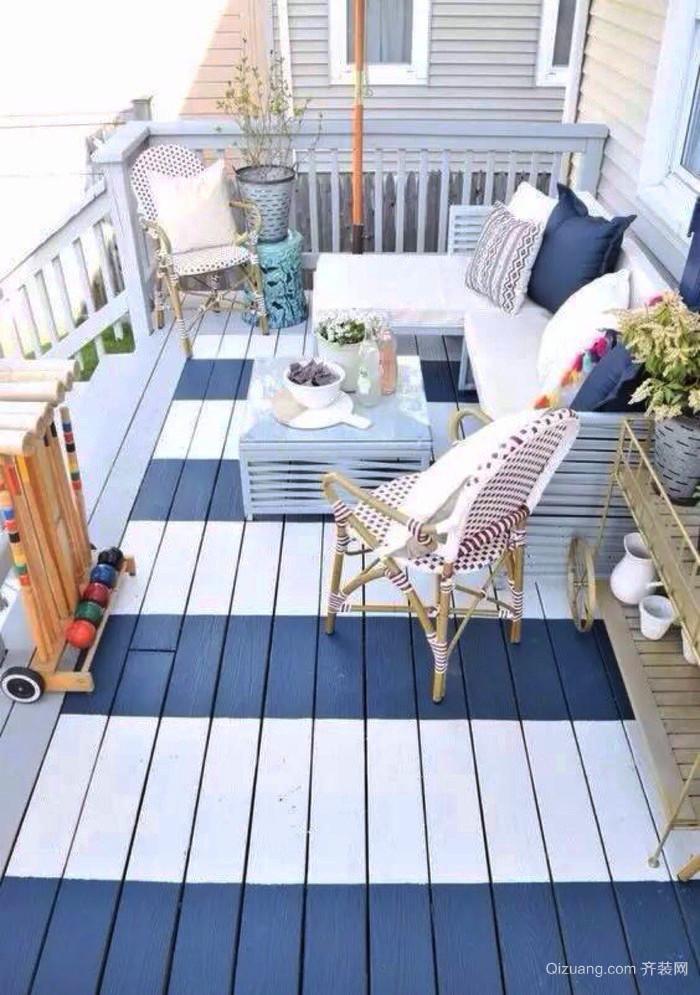 2016精致的别墅型阳台装修设计效果图