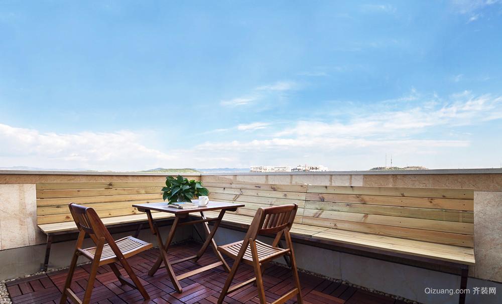 现代精致的都市大户型阳台装修设计效果图