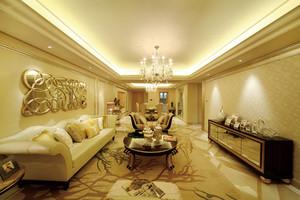 136平米欧式风格三室两厅设计装修效果图赏析
