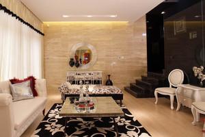 136平米简欧风格错层式住宅室内装修效果图赏析