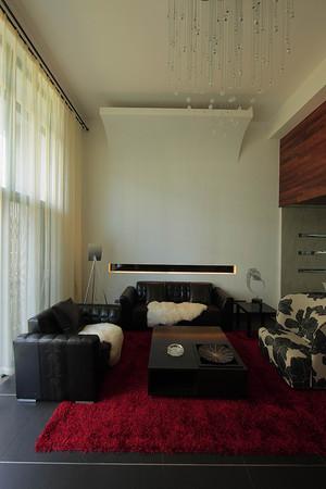 现代loft风格精致复式楼客厅设计装修效果图