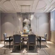 20平米简欧风格餐厅天花装修效果图赏析