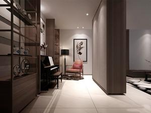 现代简约中式风格客厅书房隔断设计装修效果图