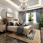 26平米简欧风格别墅室内精致卧室吊顶装修效果图