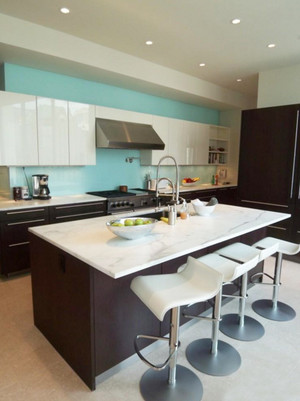 都市简约清新风格厨房橱柜装修效果图赏析