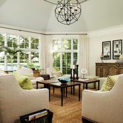 简欧风格别墅室内客厅设计装修效果图赏析