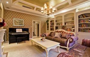现代简约法式风格客厅书房装修效果图赏析