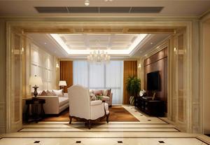 大户型简欧风格客厅门套设计装修效果图赏析