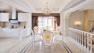 216平米欧式田园清新风格别墅室内整体设计装修效果图