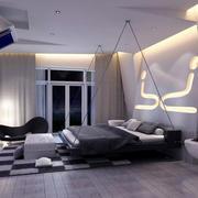 25平米后现代简约风格创意卧室装修效果图