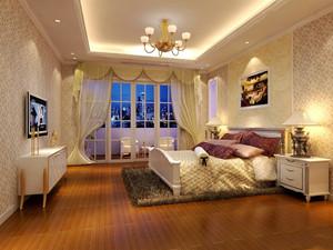 36平米欧式风格卧室带阳台装修效果图赏析