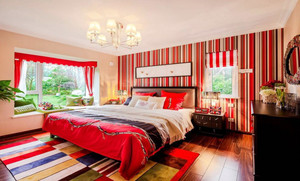 现代田园风格女生卧室飘窗设计装修效果图鉴赏