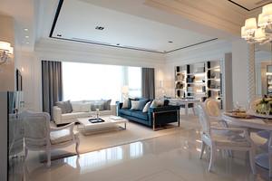 135平米地中海风格简约自然公寓装修效果图赏析
