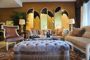 156平米新古典主义风格三室两厅装修效果图赏析
