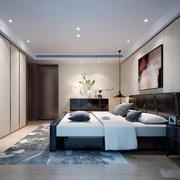 现代简约风格中性冷色男生卧室装修效果图