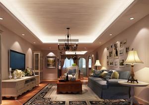 地中海简约风格客厅沙发照片墙装修效果图赏析