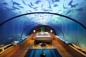 40平米现代简约海洋主题酒店客房装修效果图