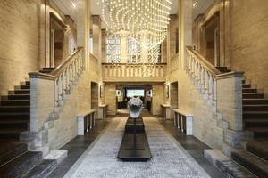136平米欧式风格富丽堂皇酒店大堂装修效果图赏析