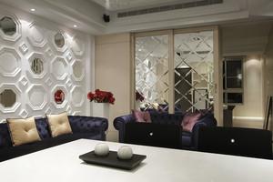 156平米后现代奢华风三居室设计装修效果图