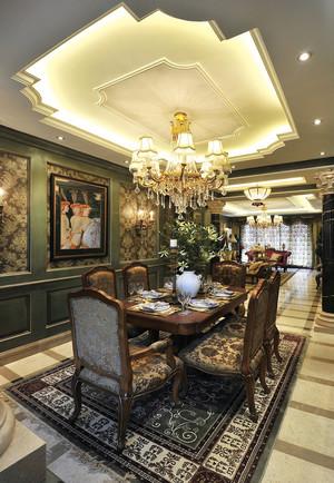 复古美式风格两层别墅室内装修效果图赏析
