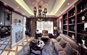 300平米新古典主义美式风格三层别墅室内装修效果图赏析