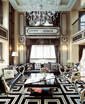 266平米新古典主义风格别墅室内装修效果图赏析