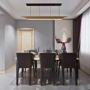 后现代简约风格大户型室内餐厅设计装修效果图