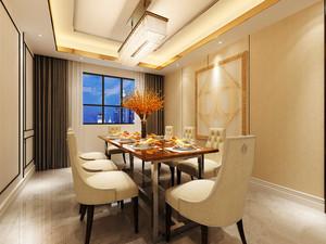 20平米精致简欧风格大户餐厅窗帘设计装修效果图