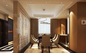 135平米简欧风格餐厅镂空隔断设计装修效果图赏析