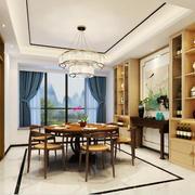 现代中式风格餐厅吊灯设计装修效果图