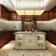 26平米美式风格厨房吊顶设计装修修效果图鉴赏