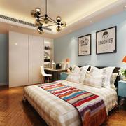 16平米北欧风格清新儿童房卧室装修效果图